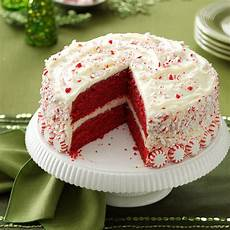 Decorating Ideas For Velvet Cake by Peppermint Velvet Cake Recipe Taste Of Home