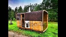 fasssauna mit holzofen und vorraum outdoor garden sauna