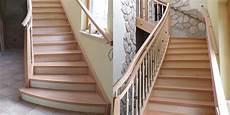 Zweil 228 Ufige Treppe In Buche Mit Ahon Kombiniert