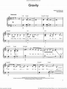 bareilles gravity sheet music for piano solo pdf interactive