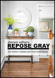 paint colors repose gray by sherwin williams in progress