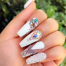 the most stylish ideas for white coffin nails design
