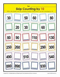 skip counting by tens worksheets 11998 skip counting worksheeets by 10