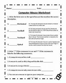 computer mouse worksheet by deans ink teachers pay teachers