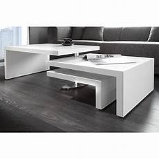 table sejour design table basse design en mdf coloris blanc laqu 233 table
