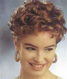 old fashioned short curly hairstyle