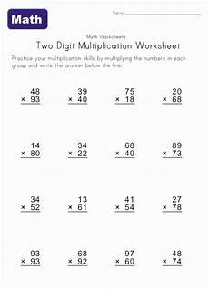 multiplication worksheets ones and twos 4526 two digit multiplication worksheet 3 math ideas math multiplication and