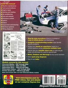 old car manuals online 1997 oldsmobile cutlass parking system haynes gm chevrolet oldsmobile alero cutlass and