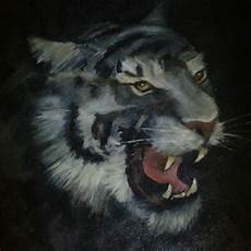 Gambar Macan Putih Lagi Marah Moa Gambar