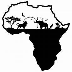 wall sticker africa silhouette skyline animals