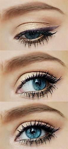 8 maquillages pour les yeux bleus vus sur