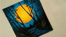 an easy nature view scenery painting sunset