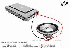 wiring diagram for to 2 4 ohm dvc subs diagrams online