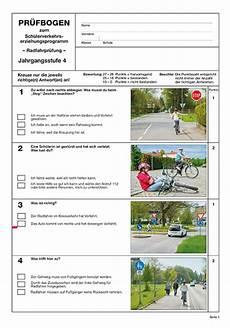 fahrradprüfung 4 klasse fragebogen pr 252 fbogen 4 jahrgangsstufe kaufen im verlag