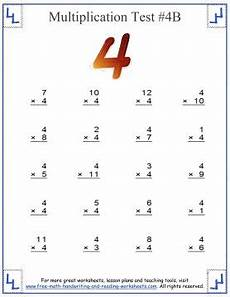 multiplication worksheets on 4 s 4530 multiplication test multiples up to twelve