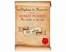 diploma personalizado cumplea 241 os regalo original