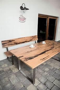holz tischplatte für draussen gartentische terrassentische aus holz haltbar