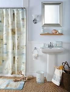 badezimmer maritim gestalten badezimmer gestaltung maritim muschel deko vorhang