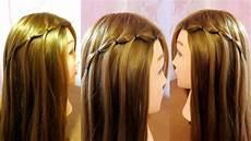 coiffure simple cheveux mi tresse cascade facile a faire soi meme tuto coiffure