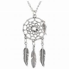 attrape reve bijoux femme collier plumes pendentif feuille