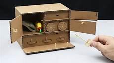 3 level safe lock diy from cardboard