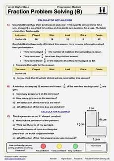 fraction problem solving worksheet for grade 5 4239 fraction problem solving b maths worksheet math fractions math worksheets math resources