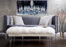 Sofa Samt Grau - grey velvet sofa with nailheads tov s21s