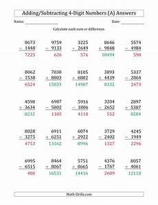 subtraction worksheets with borrowing 4 digits 10629 4 digit plus minus 4 digit addition and subtraction with some regrouping a