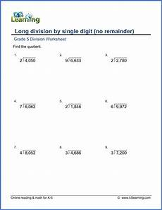 division fractions worksheets grade 5 6597 grade 5 math worksheets division k5 learning