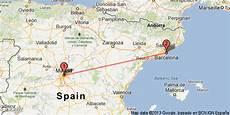barcelone madrid distance voyager en