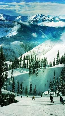 Iphone X Winter Wallpaper Hd by Ski Slope Paradise Winter Landscape Iphone 6 Plus Hd