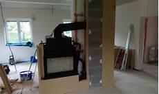 kaminverkleidung selber bauen wasserf 252 hrender tunnelkamin mit grenaisol kaminbauplatten