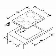 piano cottura misure piano cottura 4 zone a induzione 59x52cm by