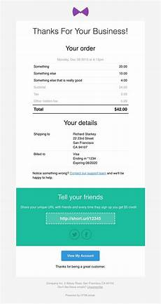 html receipt template 5 tips for developing the email receipt template