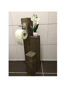 Klorollenhalter Mit Bürste - toilettenpapierhalter aus holz ebay