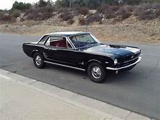 1966 Ford Mustang 289 Black With Red Interior  Classic