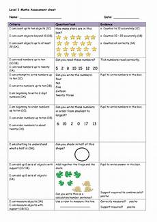 level 1 maths assessment sheet by katharine7 teaching resources tes