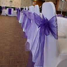 new colors chair cover sashes organza material 100 pcs
