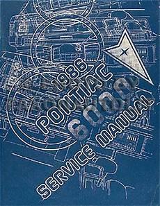 auto repair manual online 1986 pontiac 6000 on board diagnostic system 1986 pontiac 6000 repair shop manual original