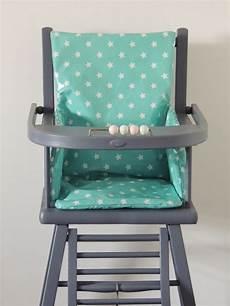 coussin de chaise haute bleu azur coton demeure des anges
