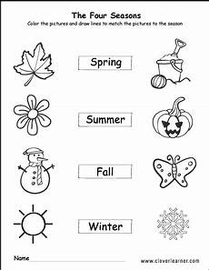 free printable worksheets on seasons kindergarten 14912 summer autumn winter activity sheet for kindergarten with images seasons worksheets