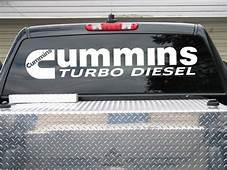 Cummins Turbo Diesel HUGE Rear Window Decal Sticker 12x48