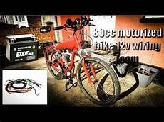 80cc bicycle engine kit 12v wiring loom youtube
