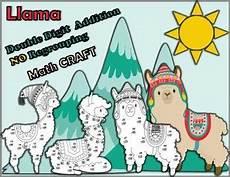 probability worksheets 5798 llama digit addition no regrouping math crafts math crafts