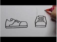 Cartoon schoenen leren tekenen! (In stappen) ?   YouTube