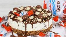 kinder schoko bon torte ohne backen torte ohne backen