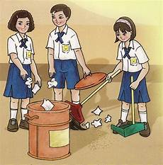 Contoh Gambar Ilustrasi Bertema Kebersihan Lingkungan Iluszi
