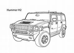 Super Car Hummer H2 Coloring Page Cool Printable Free