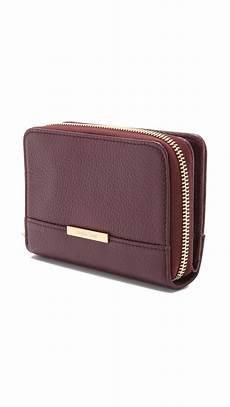 see by chlo 233 vicki small wallet plum in purple lyst