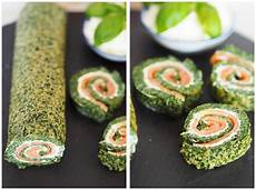 fingerfood deluxe low carb lachs spinat rolle